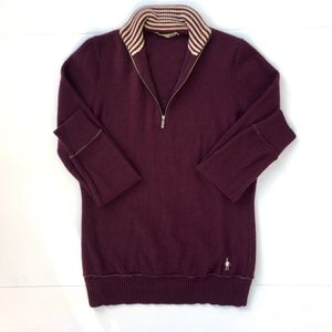 Smartwool 100% Merino Wool Quarterzip Sweater Sz M